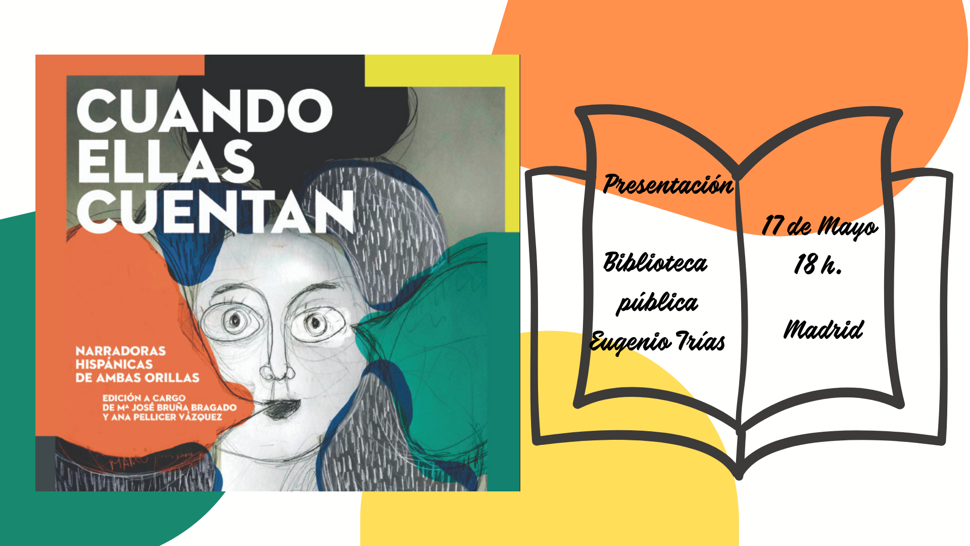 Cartel Evento presentación Al bies en Madrid