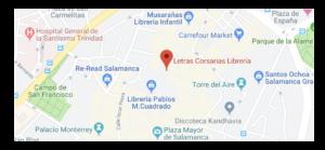 ubicación librería letras corsarias
